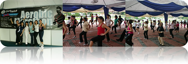 November 2008: Aerobic Marathon Charity Event (Lead by Clark Hatch EXCITE & Veron Fitness's Team)