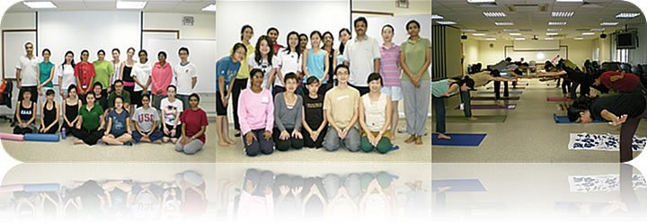NOV 2008: YOGA ESSENCE Workshop by Veronica @ National University Singapore Faculty of Sciences (Physiology Integration Life for Sciences)